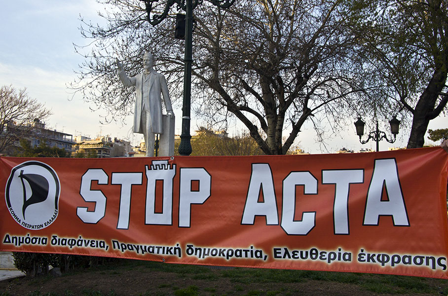 STOP ACTA at Thessaloniki Greece