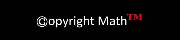 copyright-math